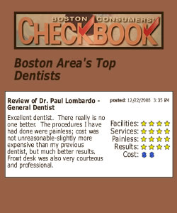 Boston Area's Top Dentists, Dr. Paul Lombardo of Burlington, MA